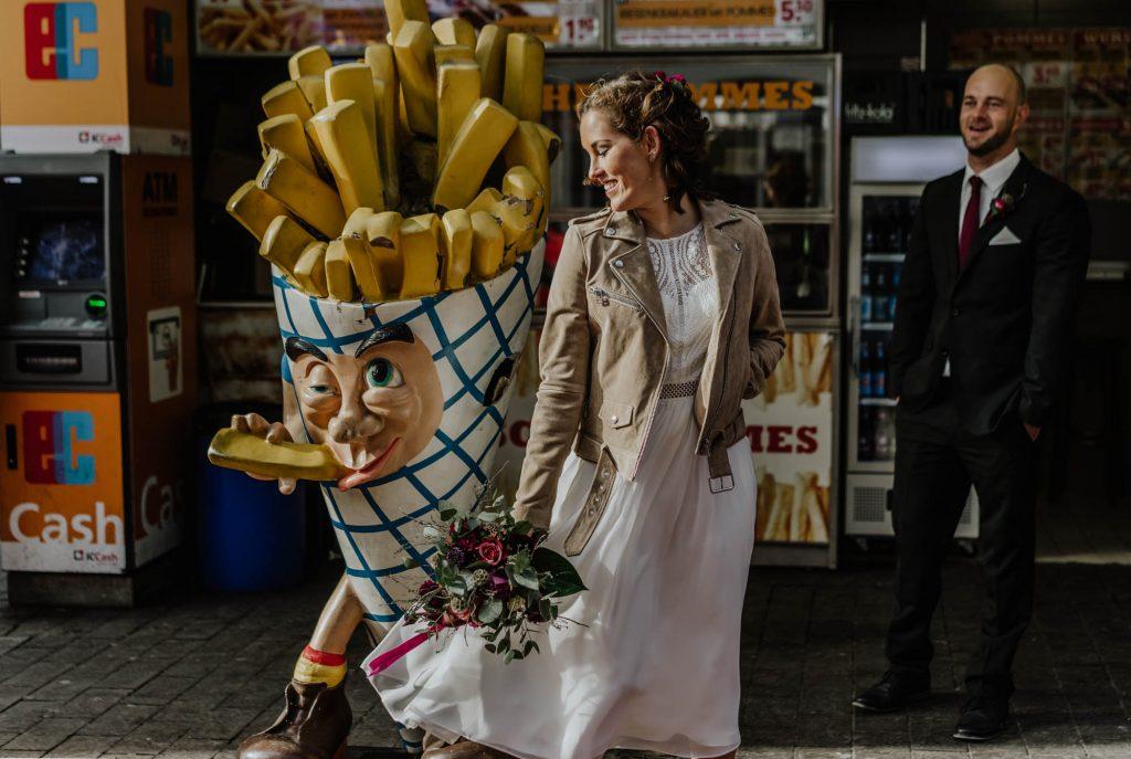 Urban, entspannt, natürlich. Ein Brautpaar-Shooting in Köln